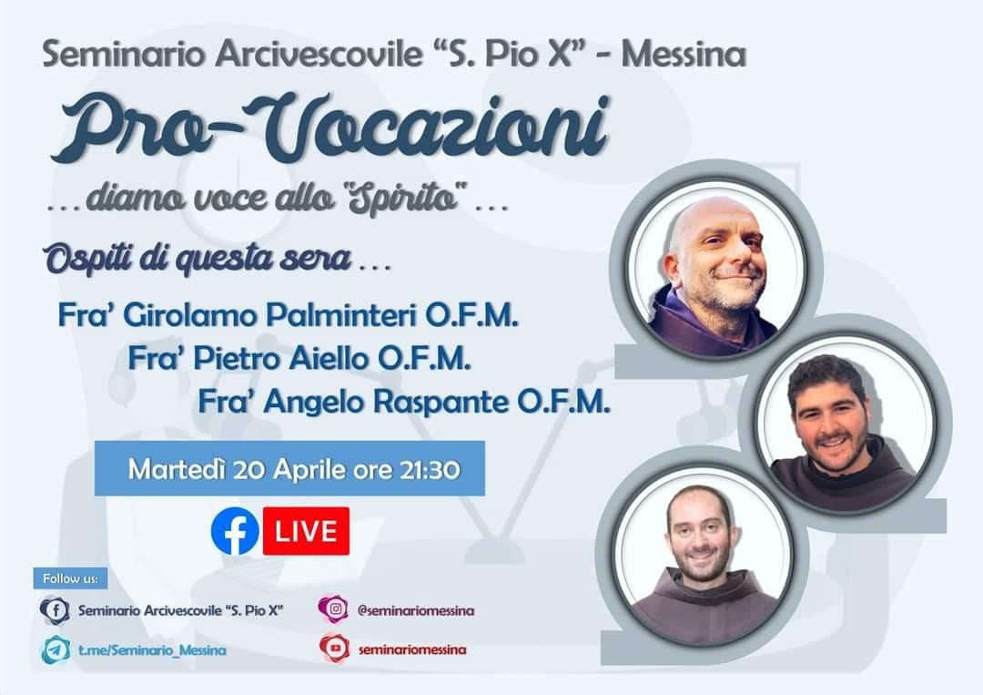 Messina. Settimana Vocazionale online, stasera carisma e chiamata nei Frati Minori