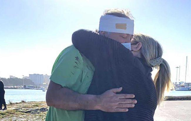 Giuseppe Giacalone ferito dai libici dice addio al mare