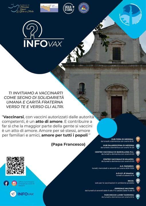 """La Diocesi di Messina invita i fedeli a vaccinarsi: """"atto di risposta al mandato del Signore diservirci gli uni gli altri"""""""