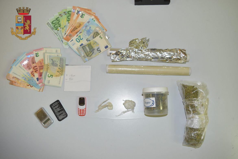 Messina, arrestato 24enne. Sequestrata cocaina e marijuana